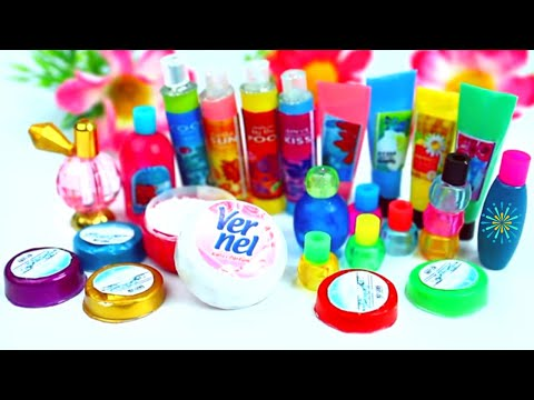 How to Make 10 Miniature Body Care and Spa Products - 10 Easy DIY Miniature Doll Crafts