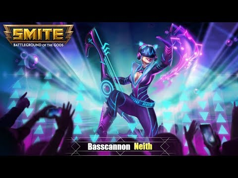 SMITE: New Neith Skin - Basscannon Neith - Abilities, Voice Pack, & Card Art!