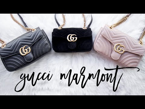 GUCCI MARMONT LEATHER vs VELVET COMPARISON + REVIEW