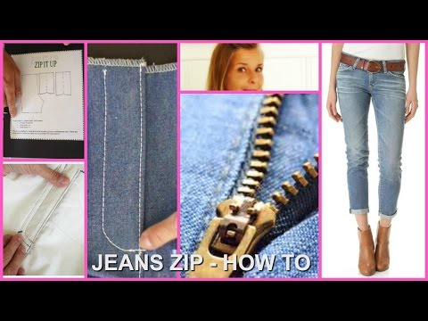 How to install a Jeans Zipper