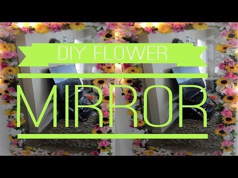 DIY| Simple Full Length Flower Mirror| Under $50
