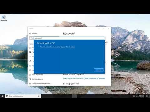 Restore Hp All in One Computer  to Factory Settings In Windows 10 [Tutorial]