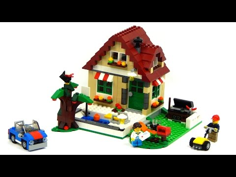 Lego Creator 31038 Changing Seasons Model A - Summer Cottage Speed Build And Review