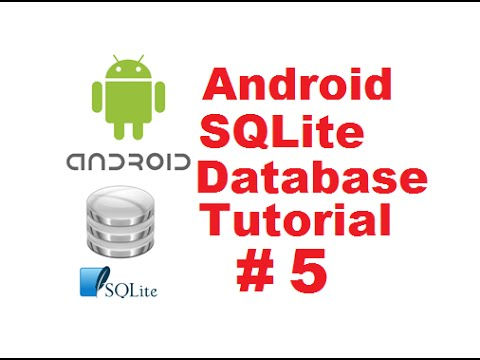 Android SQLite Database Tutorial 5 # Update values in SQLite Database table using Android
