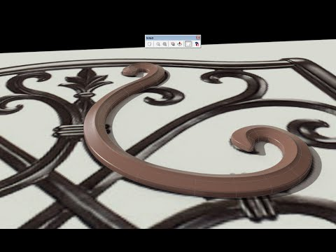 Sketchup - SubD Ornamental Chair Modeling pt. 1