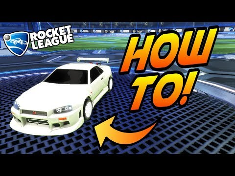 Rocket League Tips: HOW TO GET a WHITE CAR/JHZER's White Skyline + Freestyles! (Free Custom Colors)