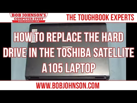 How to replace the Hard drive in the Toshiba Satellite A105 Laptop