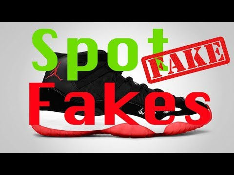 How to spot Fake jordan 11s!  Never Fails! (Secret Trick)