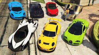 GTA 5 - Stealing Supercars with Michael! (GTA 5 Supercars #90)