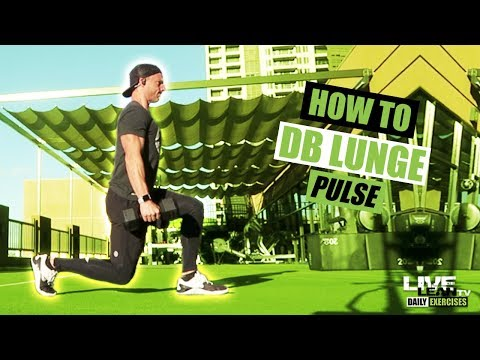 How To Do A DUMBBELL LUNGE PULSE | Exercise Demonstration Video and Guide