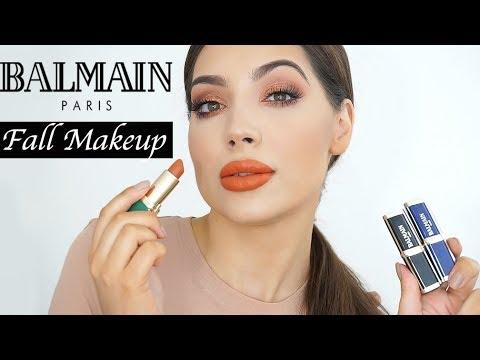 BALMAIN LIPSTICKS   Fall Pumpkin Spice Latte Inspired Makeup 🎃☕️