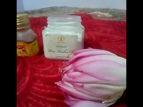 LOTUS FLOWER FACE PACK! its awesome.