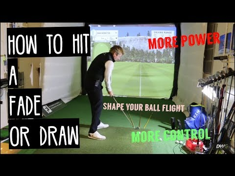 How to DRAW or FADE the GOLF BALL