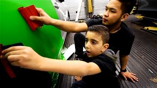Nicholas Learning To Wrap with Mark from Yiannimize