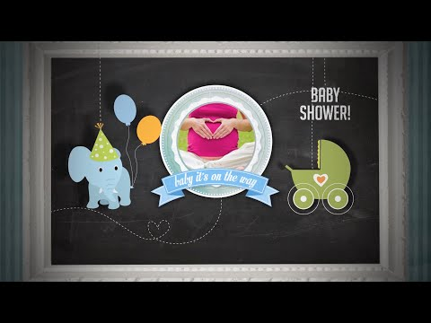 Baby Shower Invitation - boy Version - After Effects Royalty Free Template