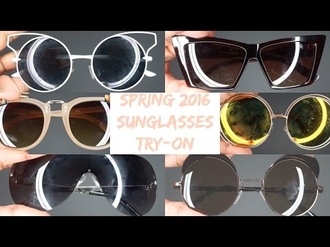 Spring 2016 Sunglasses Try-On (Ebay)