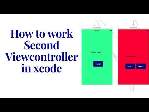 how to work second page viewcontroller swift
