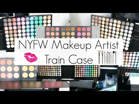 What's Inside My Fashion Week Makeup Artist Train Case || Professional MUA Kit || BeautyChickee