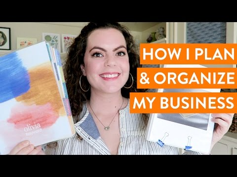 How I Plan & Organize my Online Business / Etsy Shop