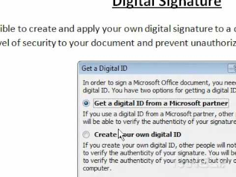 How to create a digital signature in Word