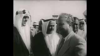 وصول الملك سعود الى الرياض بعد رحلة العلاج 5 شوال 1381 هـ