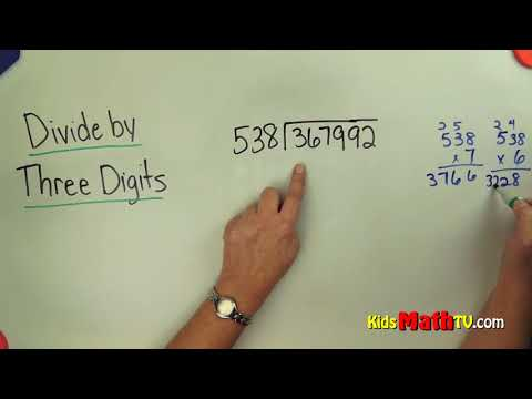 Long division by three digit numbers, 4th, 5th, 6th and 7th grades