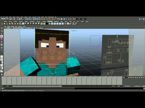 New Minecraft Character Rig(Auto-Desk Maya)
