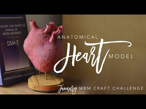 MBM January Craft Challenge | Paper Maché Anatomical Heart Model | chrstphrblk
