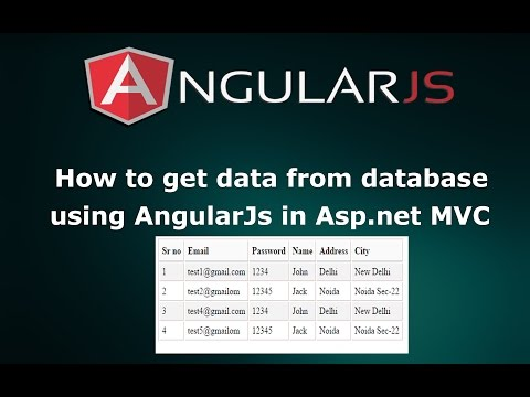 How to Get and Display Table Data from Database using AngularJs in Asp.net MVC