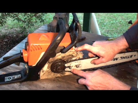 HOW TO PUT ON A CHAIN SAW CHAIN THE RIGHT WAY