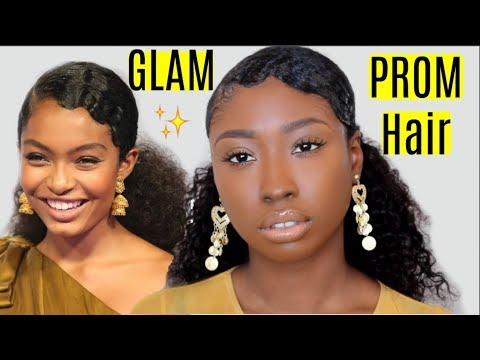 Prom Hair: Yara Shahidi Fingerwave Hairstyle Tutorial Ft LexisHair | Natural Protective Hairstyles