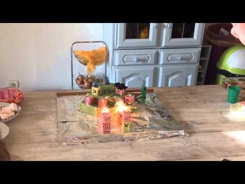 Exploding Minecraft Birthday Cake HD