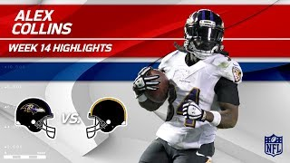 Alex Collins Powers Ahead for 120 Yards & 1 TD! | Ravens vs. Steelers | Wk 14 Player HLs