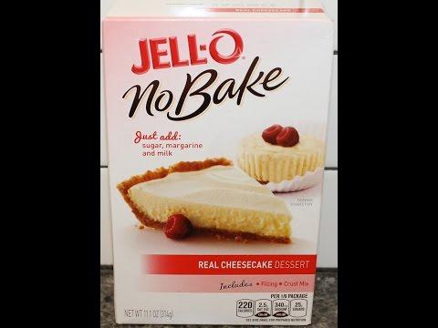 Making JELL-O No Bake Cheesecake Preparation & Review