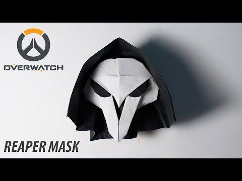 OVERWATCH - Origami Reaper's Mask Tutorial (for Halloween) (Henry Pham)