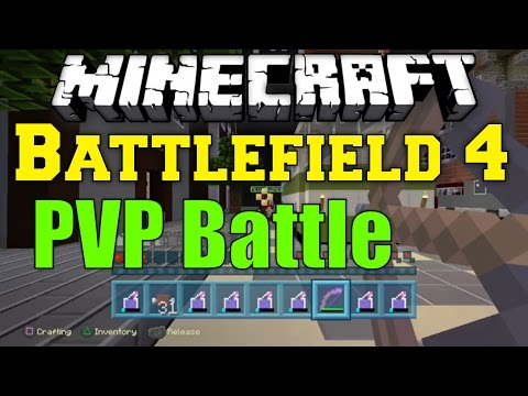 Minecraft: Battlefield 4 TeamDeathMatch PVP BATTLE- Mini Game- Game Play/PS3/PS4/Xbox1