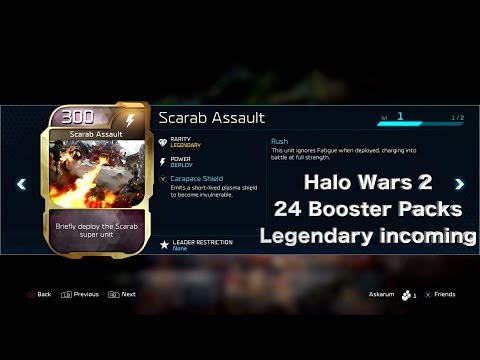 Halo Wars 2 Legendary Cards - Open 24 Booster Packs - Blitz Cards - TheAskarum