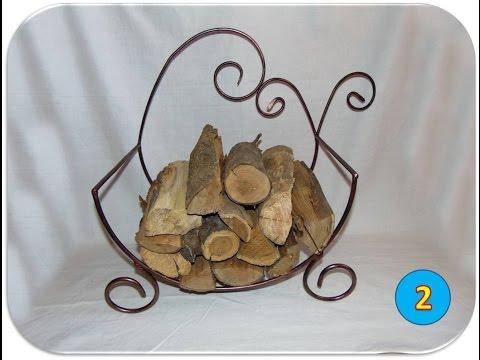 Making a fireplace log holder
