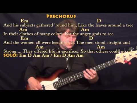 Cortez the Killer (Neil Young) Bass Guitar Cover Lesson with Chords/Lyrics