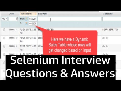 How to Handle WebTables in Selenium WebDriver | Interview Question