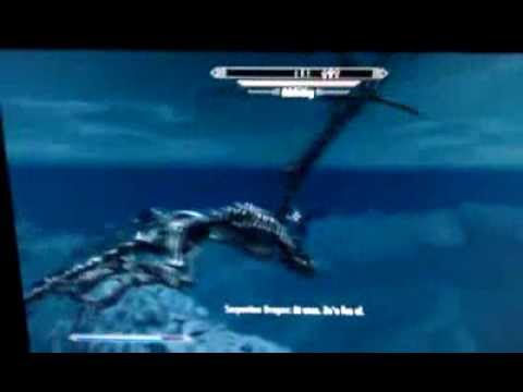 Skyrim Dragonborn Xbox 360 Flying a Skeletal Dragon Bug
