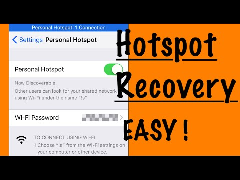 Missing iPhone Hotspot Recovery