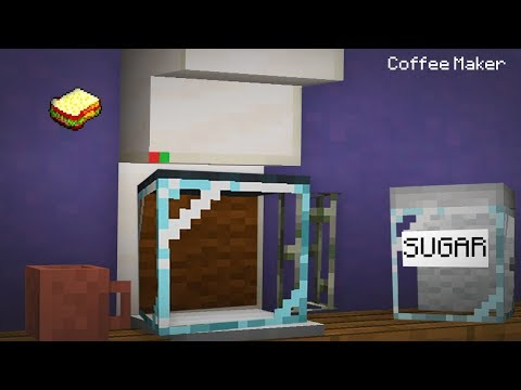 Minecraft, MCPE | How to make a Working Coffee Maker