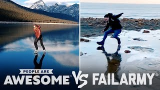 Ice Skating Flop Or Fantastic? Wins VS. Fails! | PAA Vs. FailArmy