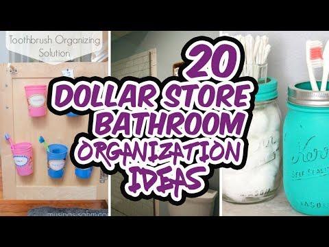 Dollar Store Bathroom Organization Ideas