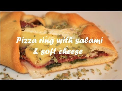 Pizza ring with salami & soft cheese recipe