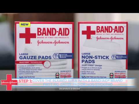 How to Clean & Wrap a Wound Near a Joint - Band-Aid® Brand of First Aid Products