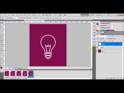 Glowing Bulb GIF | How to Create an Animated GIF in Photoshop CS5- YouTube
