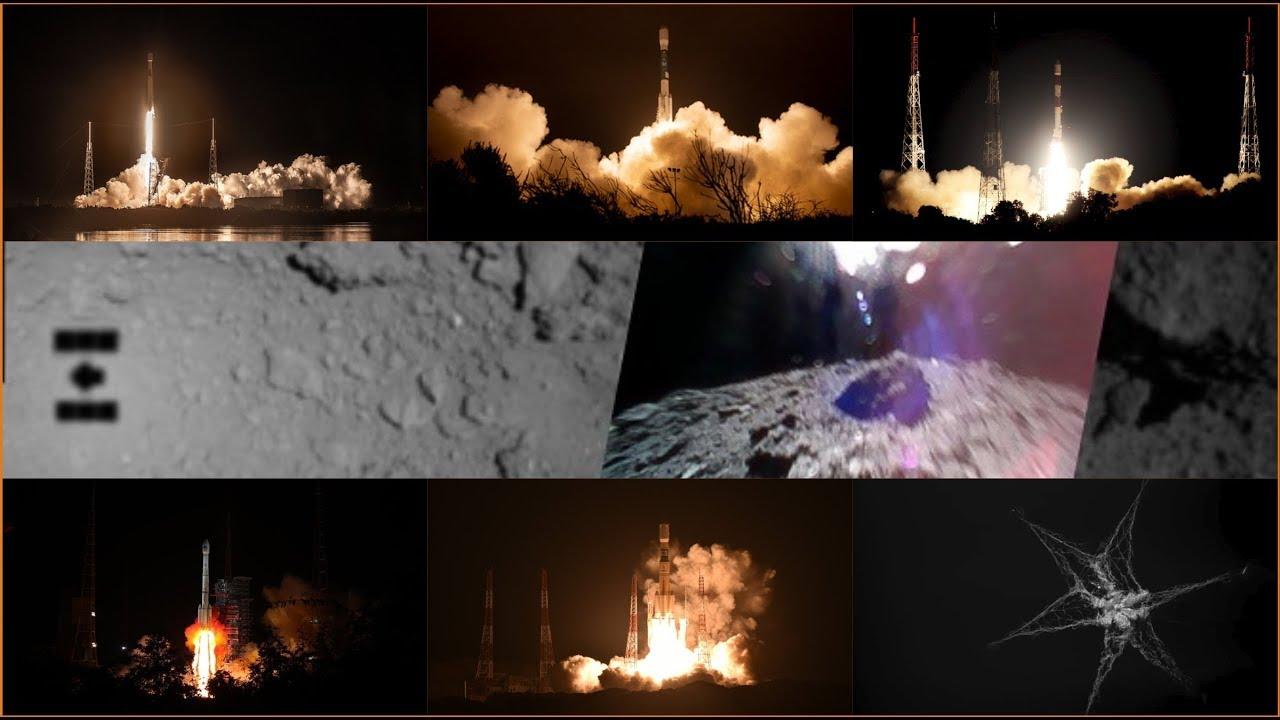 L'actu spatiale du 10 au 23 septembre : des lancements et un atterrissage sur un astéroïde !