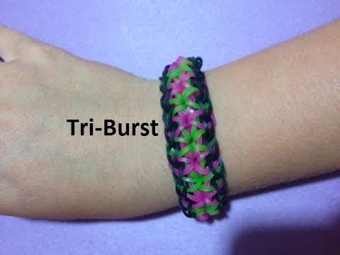 How to Make the Tri-Burst Bracelet on the Rainbow Loom - Original Design